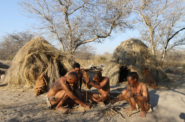 Walk and interact with the Kalahari Bushmen.