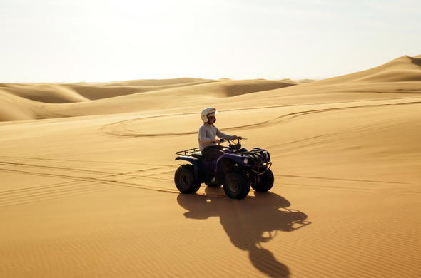 Quadbiking adventure in the Namibia Desert.