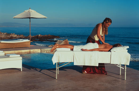 Enjoy a massage with Hermanus sea views.