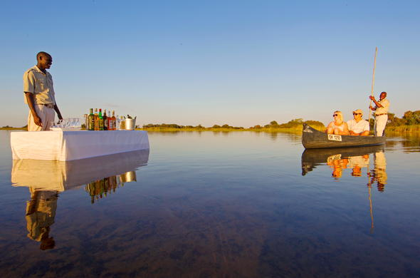 Enjoy a romantic mokoro excursion with sundowners.