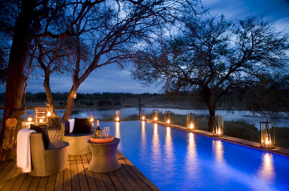 Private dining on safari in South Africa.