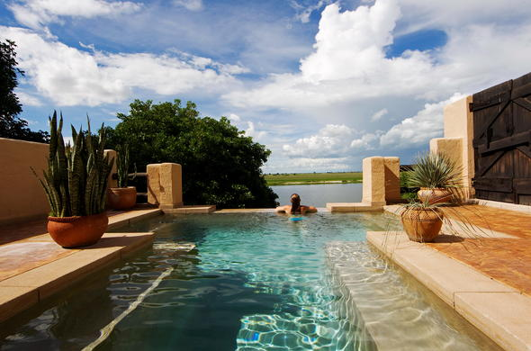 Swimming pool at Chobe Game Lodge.