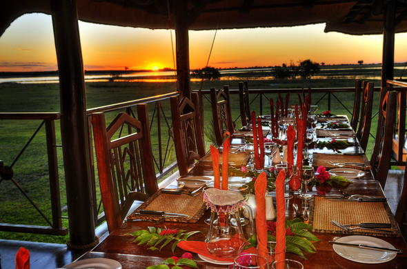 Dinner at Chobe Savanna Lodge.