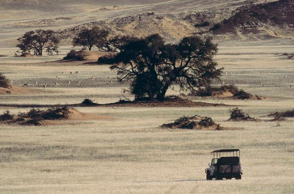 Driving across Damaraland