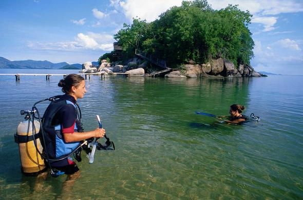 Diving at Mumbo Island Camp