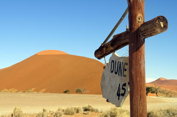 Famous Dune 45 in Namibia.