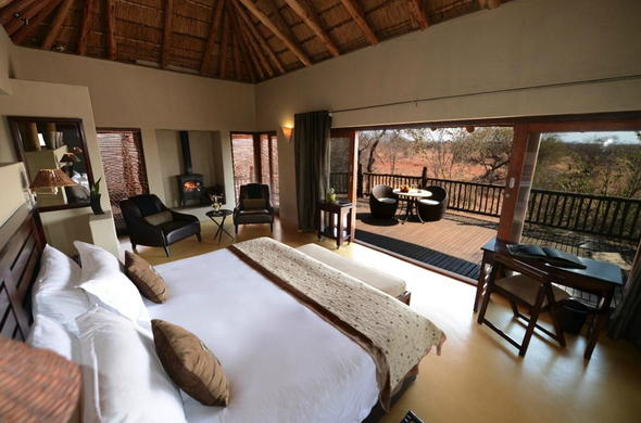 Etali Safari Lodge accommodation with private patio.
