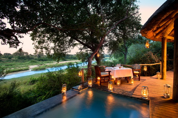 Romantic safari honeymoon destination at Exeter Game Reserve.