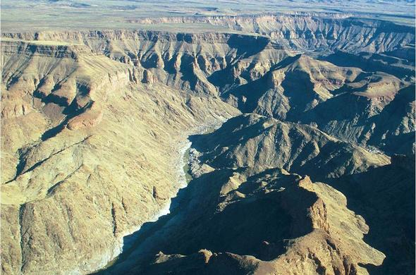 Fish River Canyon from the air. Chris Dupless