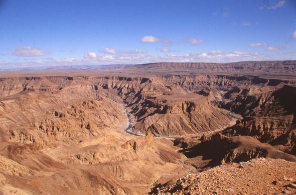 From the edge of Fish River Canyon. Leigh Kemp