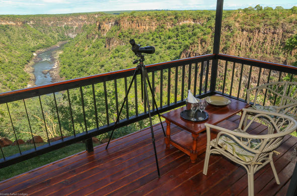 Scenic views can be enjoyed from viewing deck of Gorges Lodge.