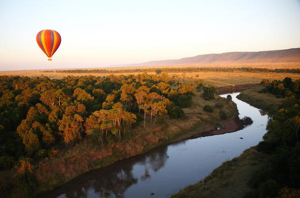 Hot air ballooning in Masai Mara.