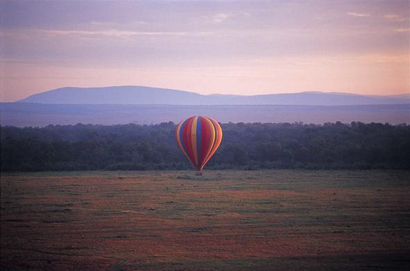 Hot-air ballooning in Great Rift Valley from Governors Camp