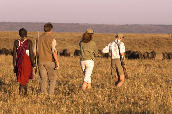 Bush walk in Kenya with an experienced guide.