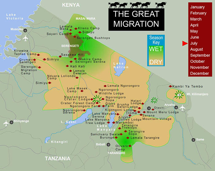Great Migration Map for July.