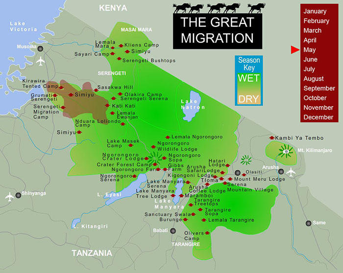 Great Migration Map for May.