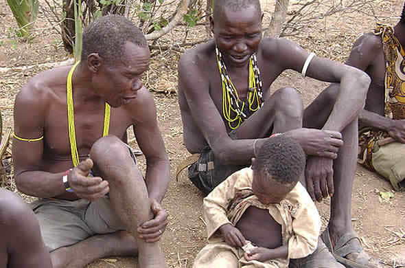Hadzabe tribes-people