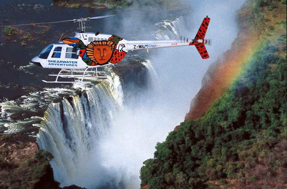 Flight of the angels over Vic Falls.