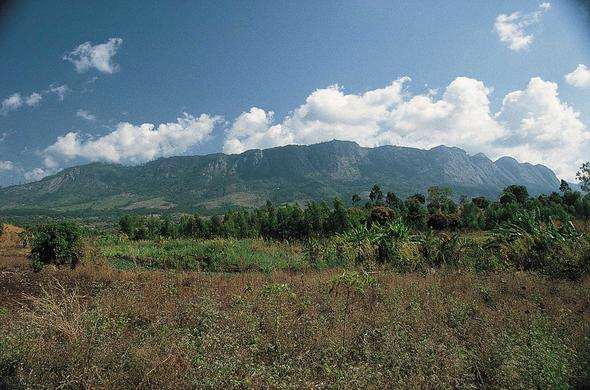 View toward Zomba Plateau