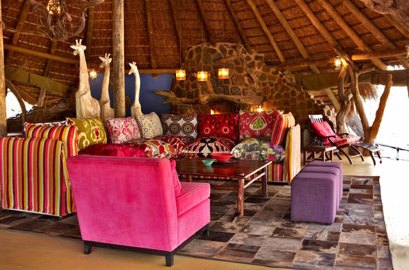 Fun decor at Jacis Safari Lodge.