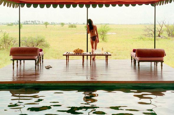 The Pool Pavilion at Jack's Camp. Makgadikgadi