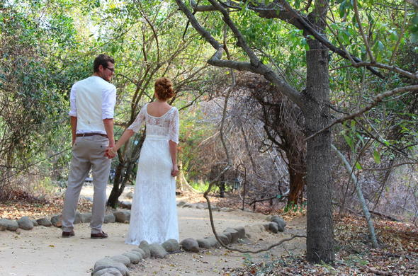 Wedding couple at Jock Safari Lodge.