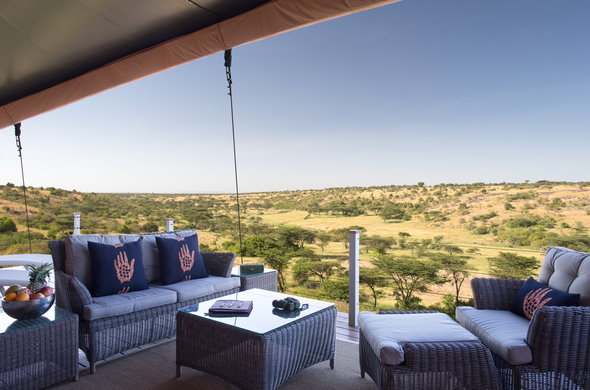 Spectacular views can be enjoyed from the Mahali Mzuri deck lounge.
