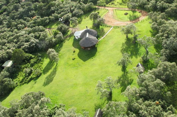 Aerial view of Malu Lodge.