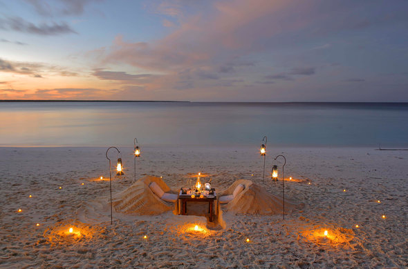 Romantic Beach Dining at Mnemba Island Lodge