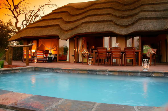 Slip into the swimming pool at Motswiri Private Safari Lodge.