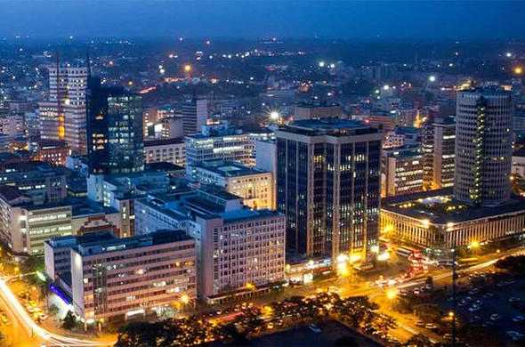 Early evening over Nairobi