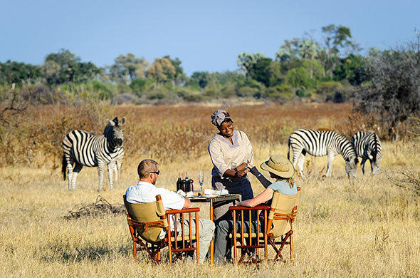 Lunch at Mombo Camp. Okavango. Botswana