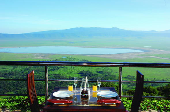 Breakfast at Ngorongoro Crater Wildlife Lodge