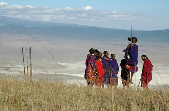 Maasai tribesmen at Ngorongoro Serena Safari Lodge