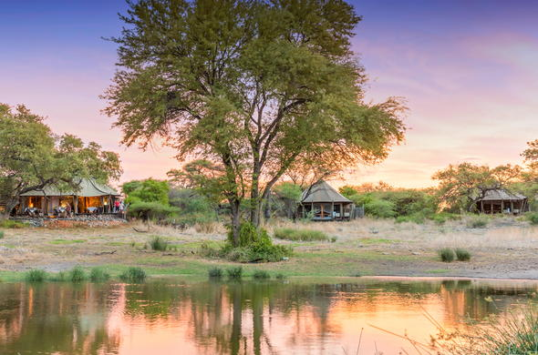 Onguma Tented Camp is located in the Onguma Game Reserve.