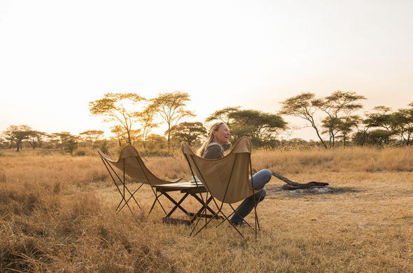 relax in the Serengeti