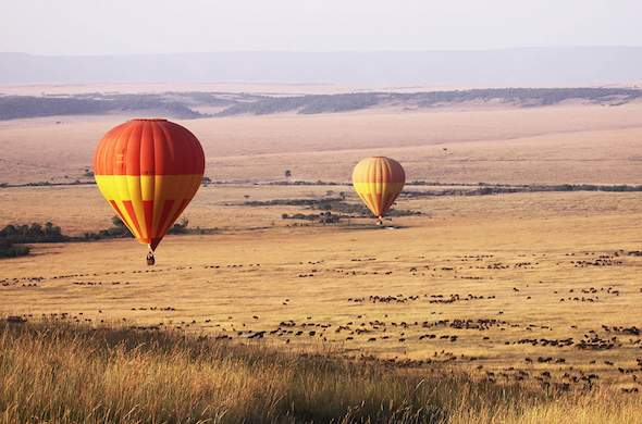 Richards Forest Camp offers hot-air ballooning safaris in Masai Mara.