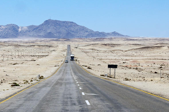Road to Swakopmund in Namibia.