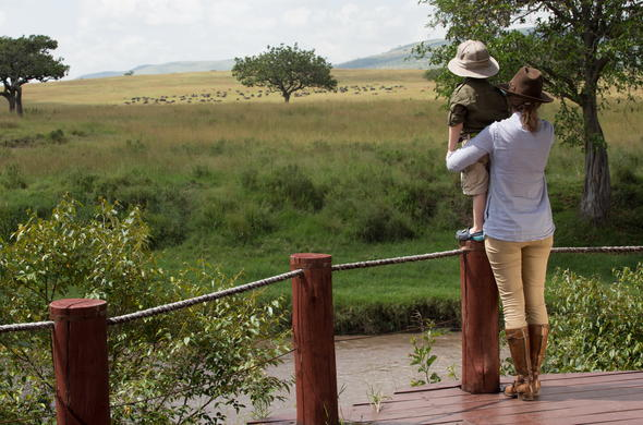 Guests experiencing game viewing at Sand River Masai Mara.