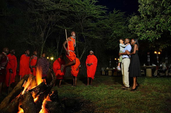 Dinner entertainment provided by the Maasai People.