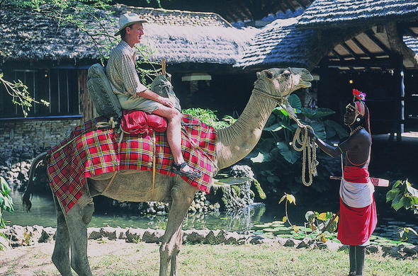 Camel trek from Sarova Shaba Lodge