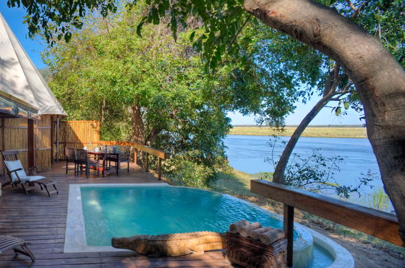 Camp Kigelia offers scenic views of Lower Zambezi National Park.