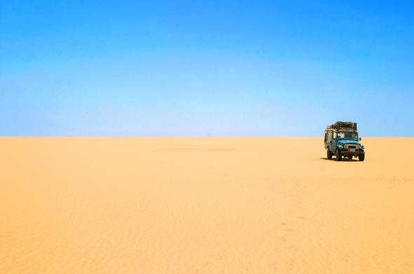 Driving across the Namib