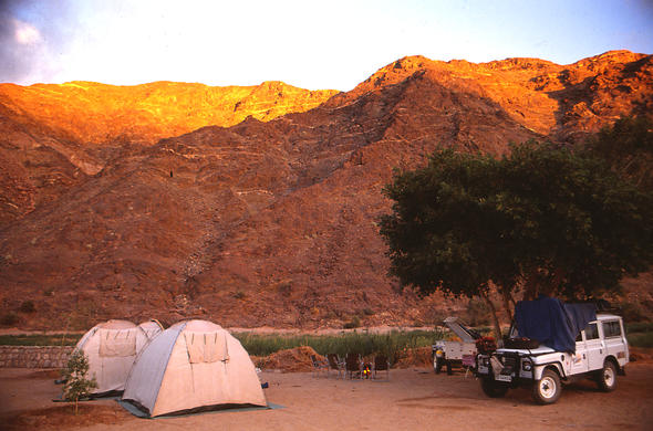 Namibia camping expedition.