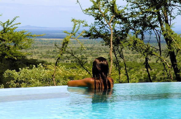 Relax and cool off in the pool in the Serengeti.