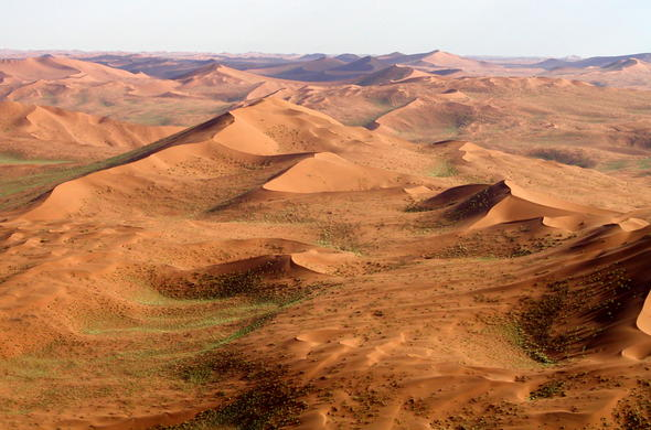 The famous sand dunes of Sossusvlei in Namibia.