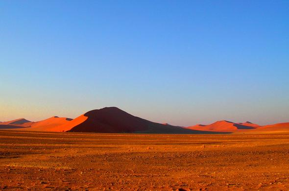 Just sand and sky and you. Namib Desert