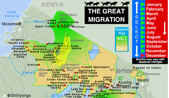 Tanzania Migration Map.