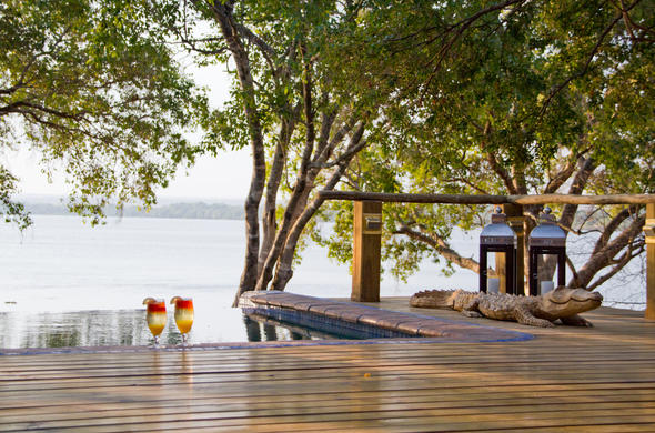 View of the Zambezi River form the deck.