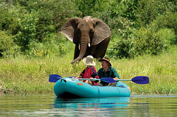 Canoe safari from Victoria Falls Safari Lodge